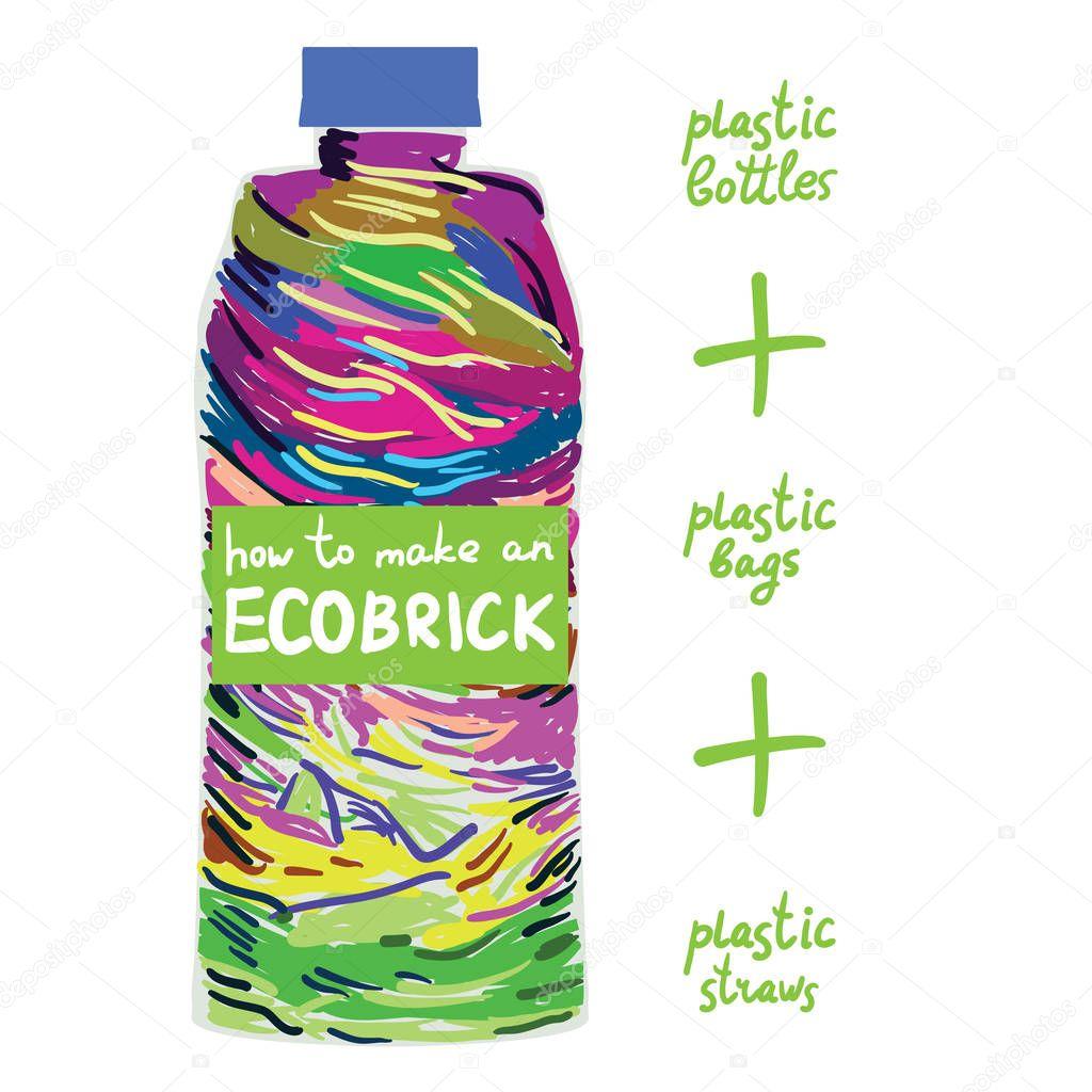 Ecobrick bottle